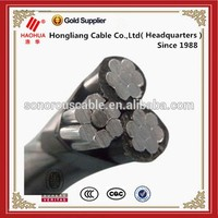 NO.3232- XLPE insulated duplex / triplex / quadruplex service drop Low voltage twisted abc cable aerial bundle cable