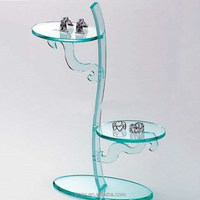 novelty decorative clear acrylic earring holder jewelry tray