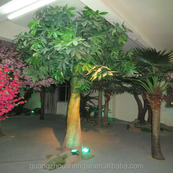Q082245 Pachira Money Tree Plant Ornamental Foliage Plants Large Outdoor Artificial Trees