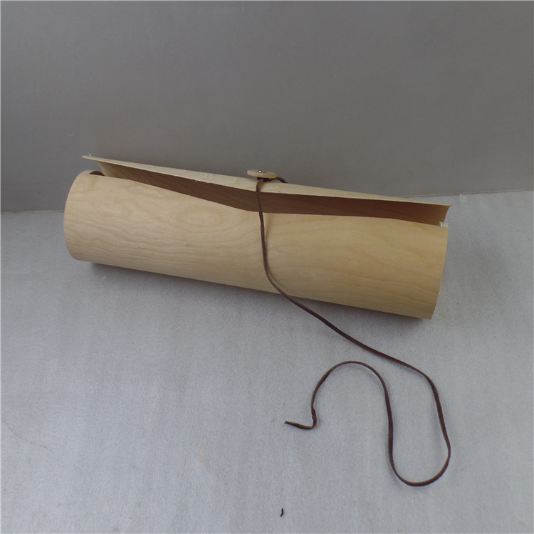 Birch cylinder wood wine box