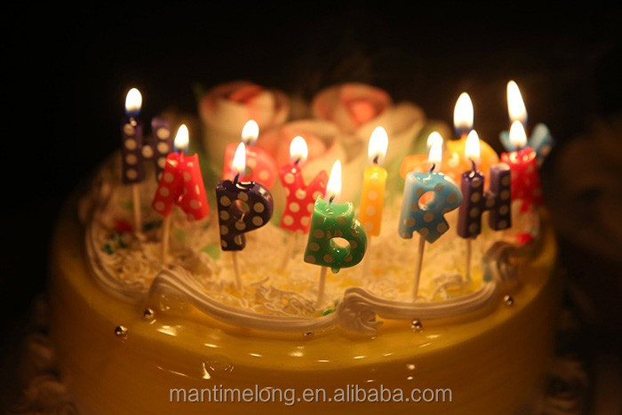 Outstanding Korean Version Of Happy Birthday Cake Candle Cute Dot Alphabet Personalised Birthday Cards Epsylily Jamesorg