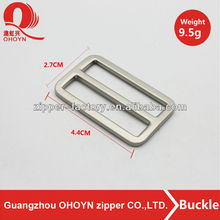 High quality fashion metal bag nickel color hardware square buckle