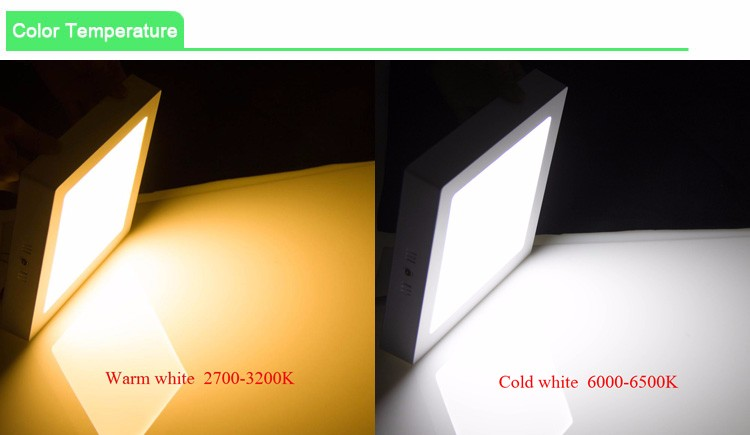 Modern Indoor Decorative 6w 12w 18w Square Led Ceiling Panel Light