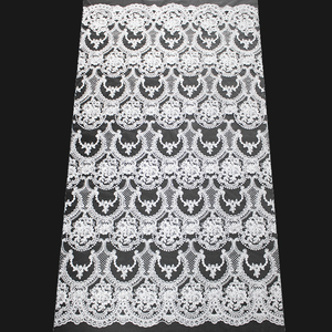 LOW MOQ swiss voile lace dress african polyester fabric for curtains