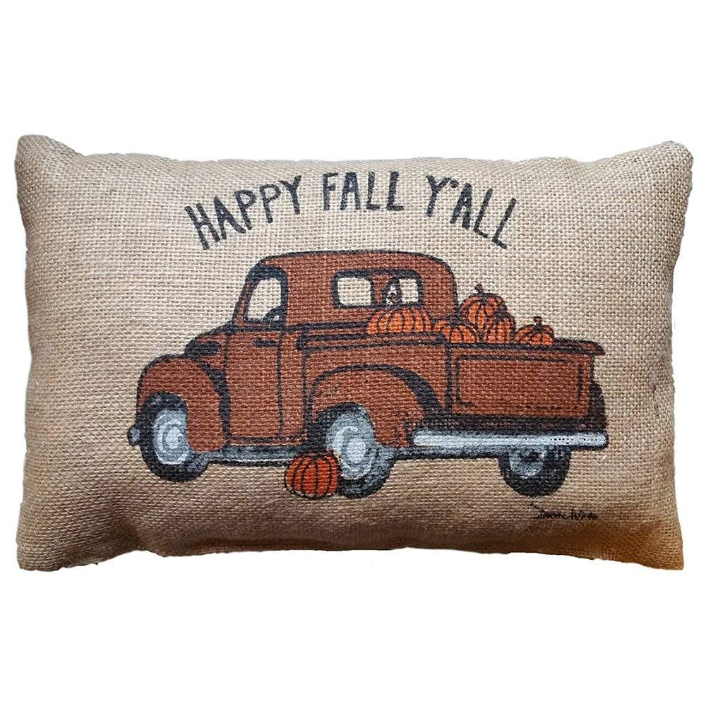Throw Pillow Covers, E-Scenery Clearance Sale! Happy Fall Y'all Square Decorative Throw Pillow Cases Cushion Cover for Sofa Bedroom Car Home Decor, 12 x 20 Inch