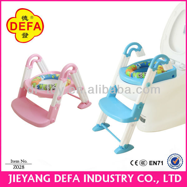 functional baby toilet training seat steps/trainer potty 3-in-1