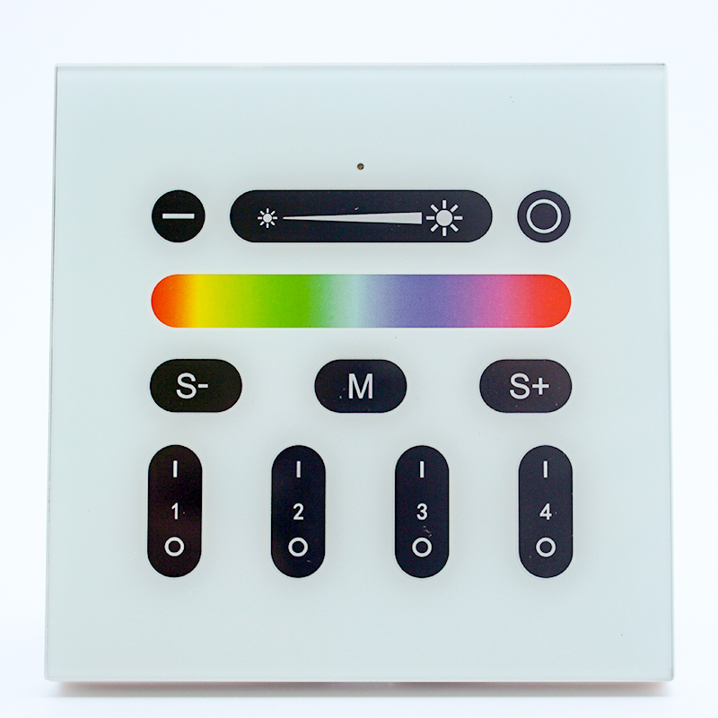 2.4G RF RGBW vac100-240v remote control wall mounted touch panel wall lights with remote control