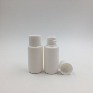 Food Grade 15ml 0.5oz PET Transparent Cosmetic Bottles with Screw Caps