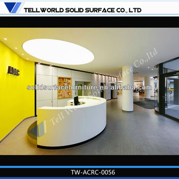Tell World Office Furniture Receptionist Desk Curved Counter ...