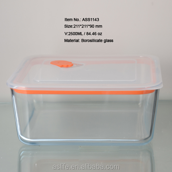 Ass1143-2500ml 84.46oz Airtight Food Container Boxes!square ...