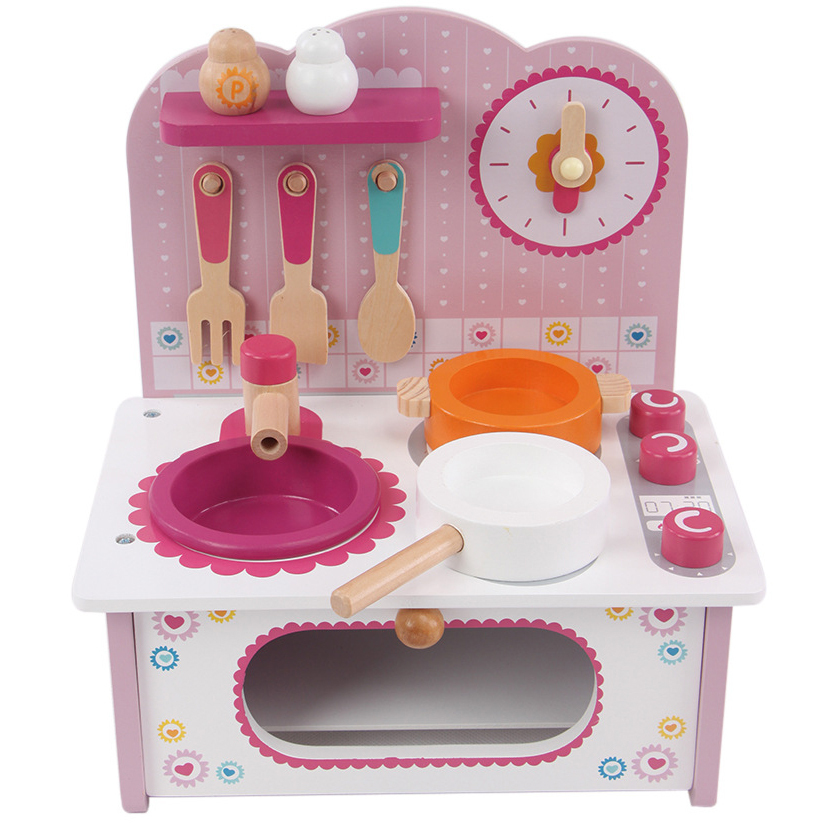 Buy V-Fantasy Princess Pink Wooden Mini Kitchen Toys Set