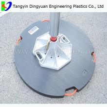 crane outrigger pad/ground protect crane mat/uhmwpe mobile road