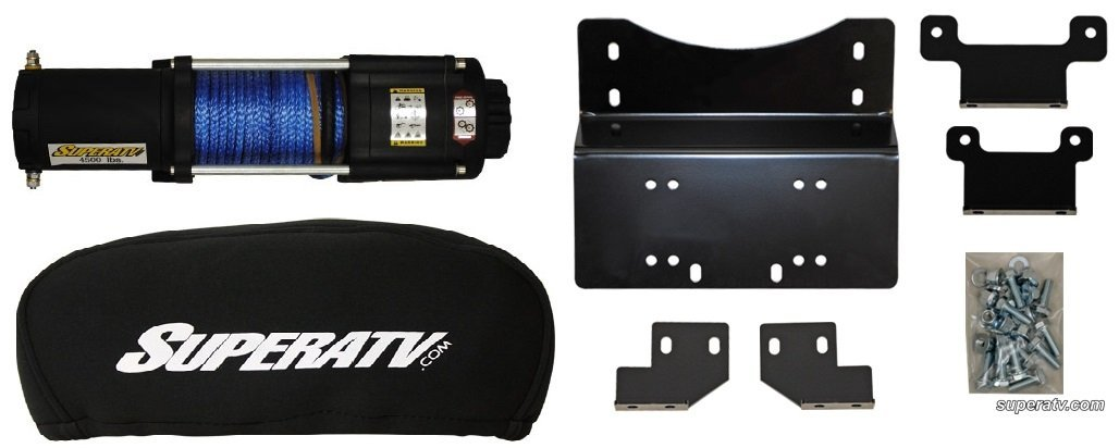 Honda Pioneer 700 2014+ 4500 lb Winch,Winch Mount and Winch Cover