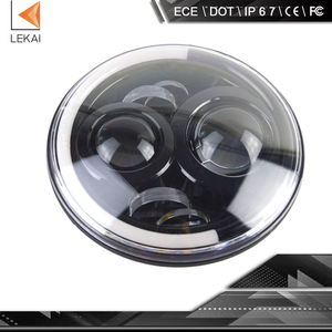 h4 plug dot and ece car round 7inch led headlight