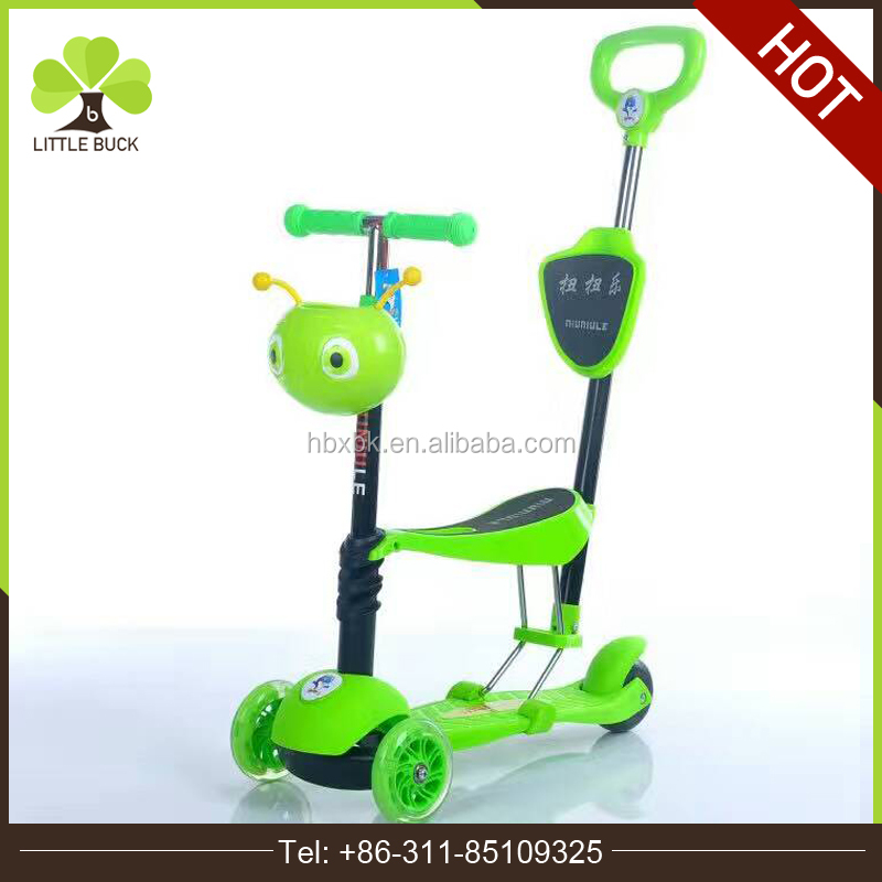 safety high quality kids scooter with 3 wheel/2017 cool design baby kids scooter with seat/3 in 1 kids scooter in stock for sale