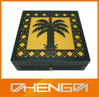 High Quality Laser Engrave Wooden Dates Box For Ramadan Gift