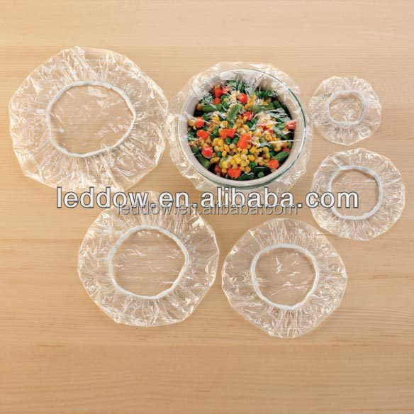 Disposable colorful PE bowl covers High quality disposable food grade PE plastic elastic bowl cover
