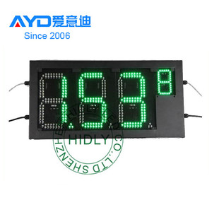 12'' 7 Segment Customized LED Gas Price Sign/Green Digital LED Price Sign/RF Removed Control LED Price Display