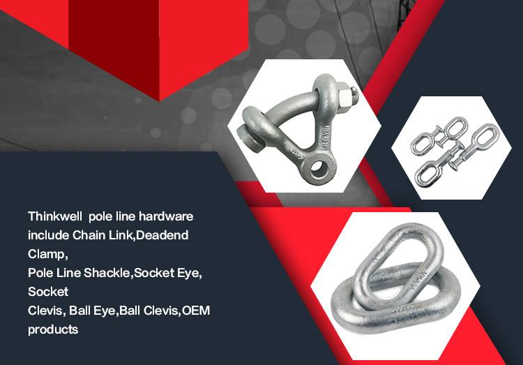 Forged Galvanized electronic shackle U Type Shackle