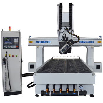 Packing solid ! 4 axis economic cnc router milling machine for aluminum mold