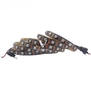 GS8208 Addressable IC Black and White PCB 48 60 Pixels/m GS8208 LC8808S 5050SMD RGB Led Strip