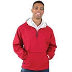 Custom logo 100% nylon pullover waterproof red jacket mens