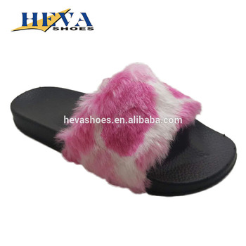 474c93726cf3 Womens Soft Faux Fur Slide Sandals Slippers Comfy Trendy Shoes MUST HAVE
