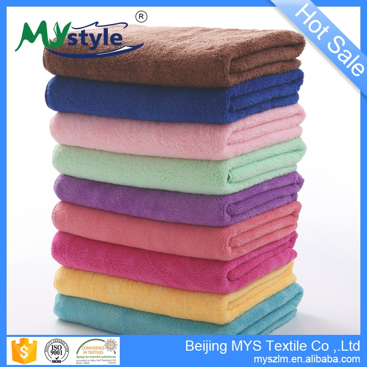 Wholesale Cheap Soft Microfiber Towel Fabric Set With <strong>Logo</strong>