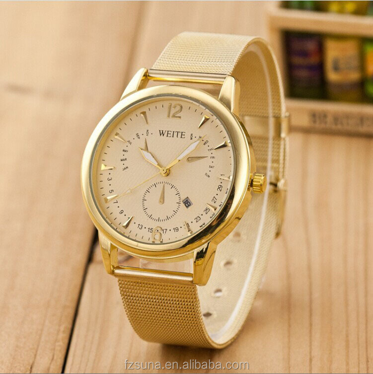 fashion military sport product men weite leather luxury s watches watch analog business racing