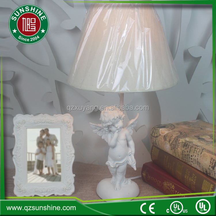 2017 new resin Guardian Angel vintage chalk ware french decor parts victorian angel table lamp