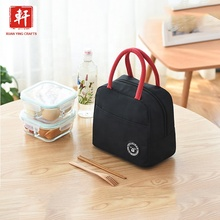 Polyester Tote <span class=keywords><strong>Voedsel</strong></span> Picknick Koeltas Isotherm handvat Lunch Tas voor School Kids Draagbare lunchbox tote koeltas