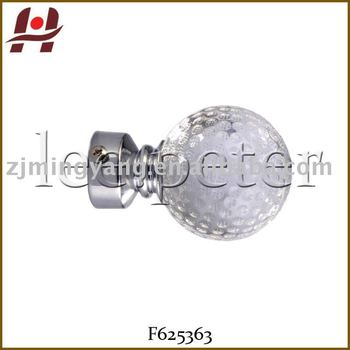 Curtains Ideas curtain rod crystal finials : F625363 Window Plastic Resin Metal Curtain Rod Crystal Finials ...