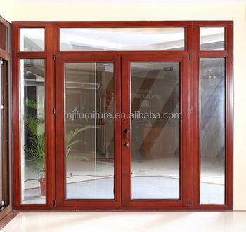 Wooden Grain Color Aluminium Swing Outward Opening Doors Buy