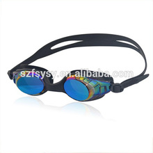 Swimming Sport Outdoor Adult Swim Goggles 7 Colour Plating Waterproof Anti Fog Integrated Big Box Silicone Swim Goggles