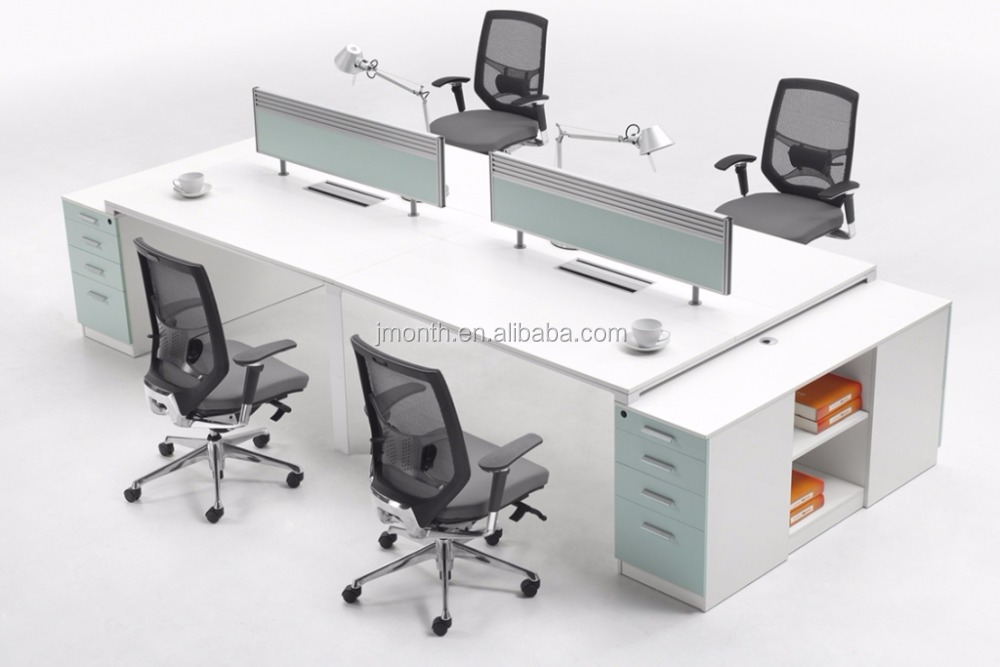 Simple Style Office Workstation 2 Person Reception Desk