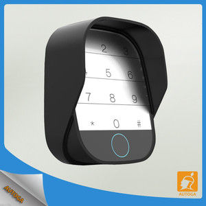 Automatic black wireless outdoor keypad with gate opener