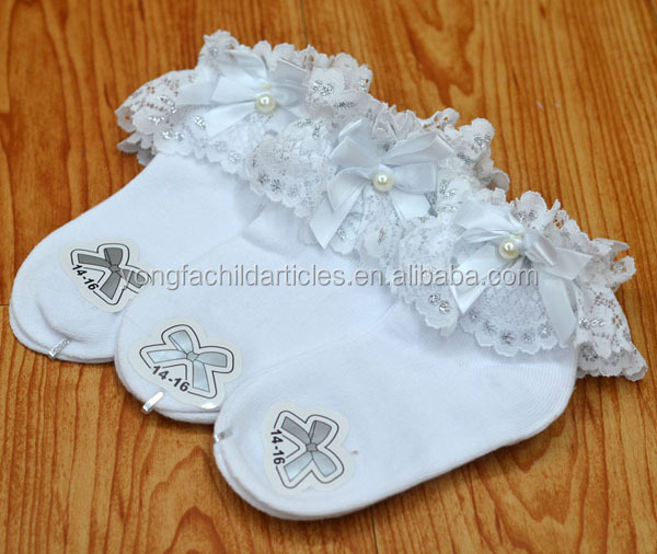 Fashion 2016 kids lace cotton baby sock