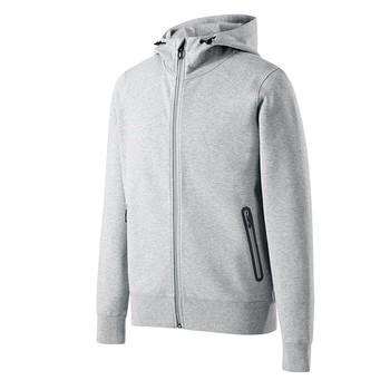 Thermische kapuzen-strickjacke hellgrau herren baumwolle polyester brauch  reißverschluss tasche hoodie c9a6b8c19f