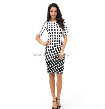 16267fdd95 Vestido De Túnica Roupas Femininas Plus Size Primavera OL Vestidos De Moda  De Trabalho