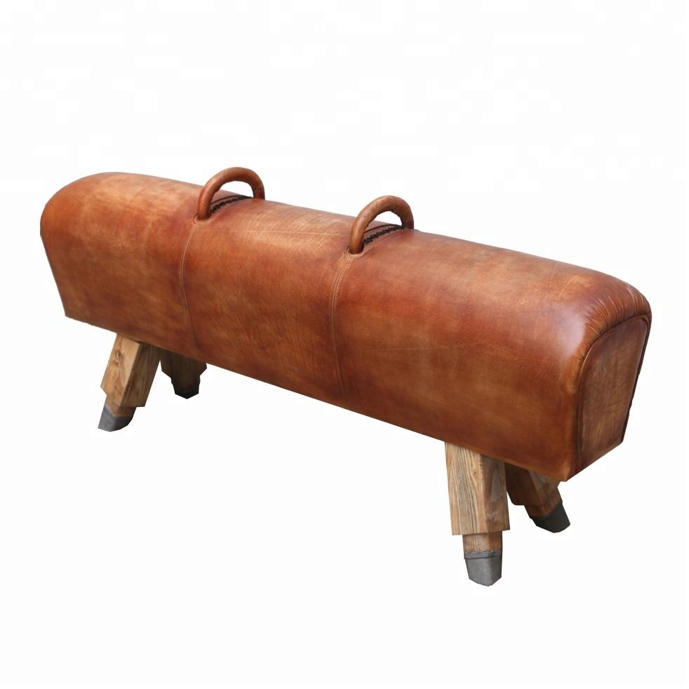 Antique Leather Pommel Horse Vintage Gym Bench Buy