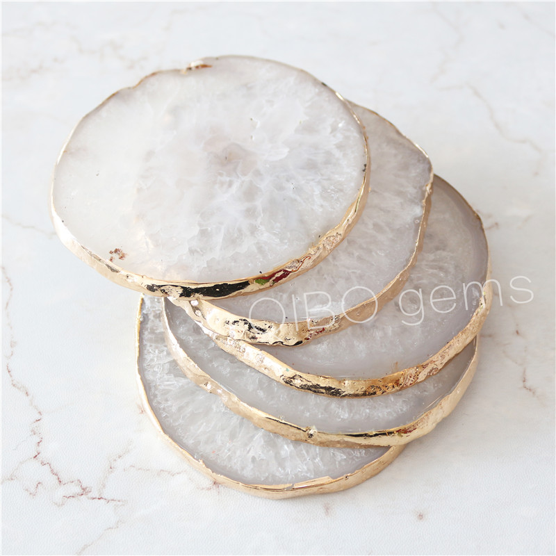 best selling brazilian agate slice wholesale blue agate coaster