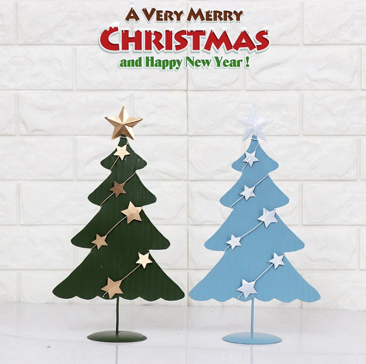 2018 Iron christmas tree sets wallpaper home decoration special gift table decoration