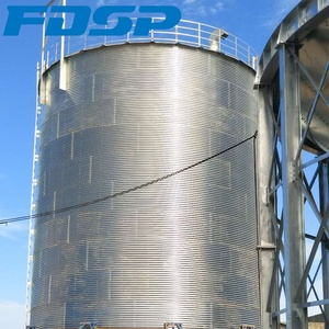 Customized grain silo 500t hopper bottom silos maize wheat Coffee Bean Silo bins