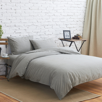 Stone Washed Cotton Linen Bed Sheets Duvet Cover