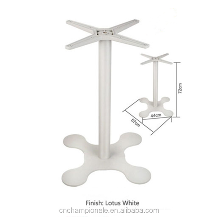 Outdoor Table Base legs with Four-leg foot lotus white Base Table Leg