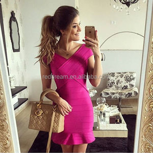 2016 latest fashion fishtail skirt slim fabric sexy lady party bandage fabric for dress