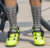 high quality neon colorful cycling bicycle socks men women