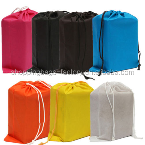 Portable Shoes Bag Travel Storage Pouch Drawstring Dust Bags Non-woven