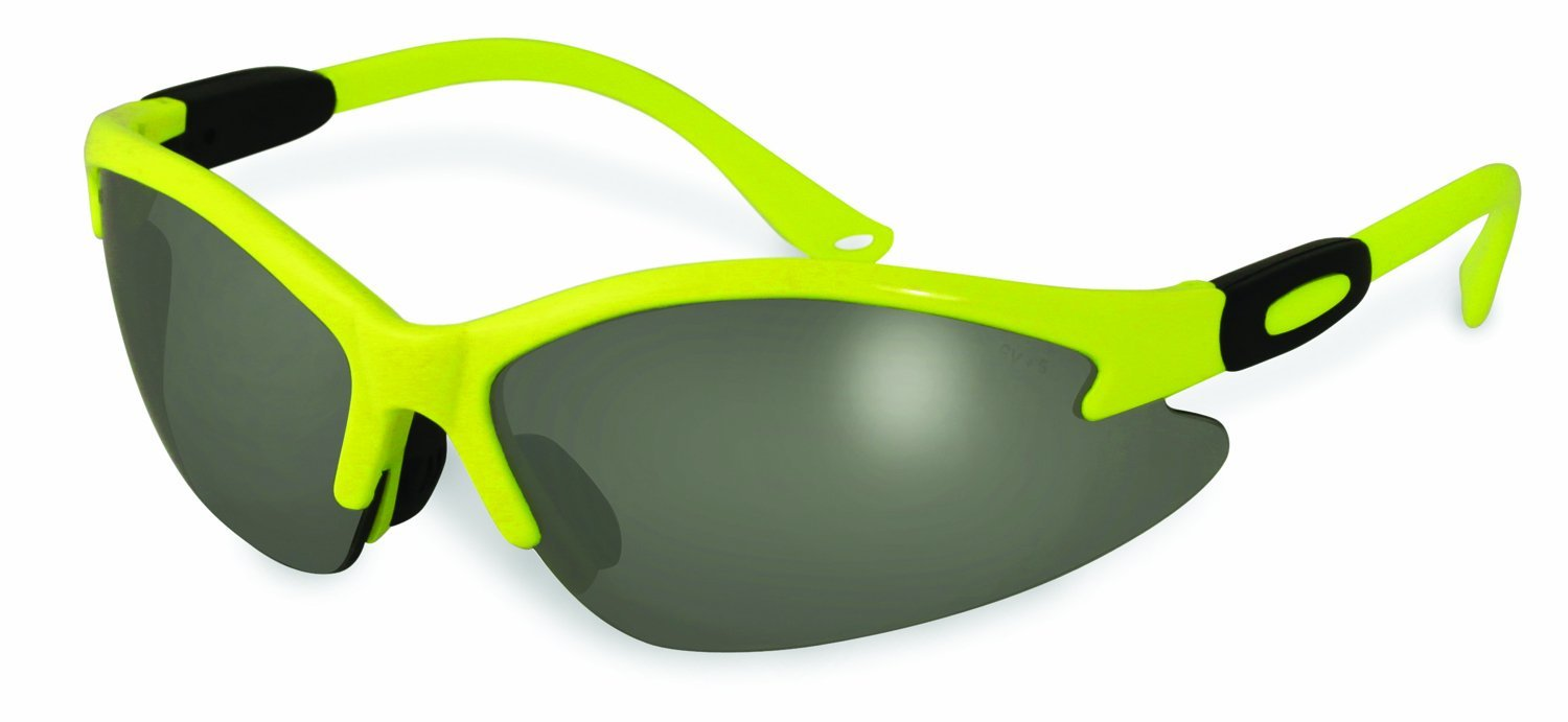 Specialized Safety Products SSP 13209 Columbia HVG M Unisex Safety Glasses with Mirrored Lenses and High-Visibility Green Frames