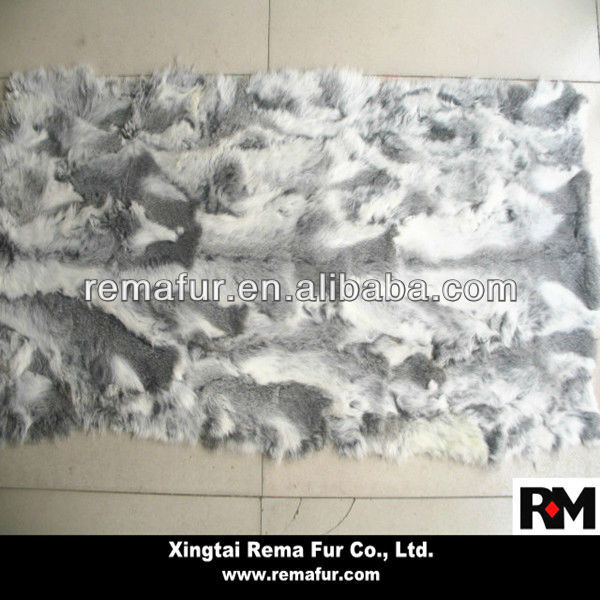 Factory wholesale 100% real scrap rabbit fur plate in cheap price